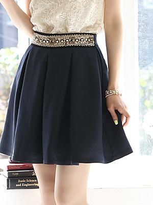 Beading Mini Skirt, 6876726