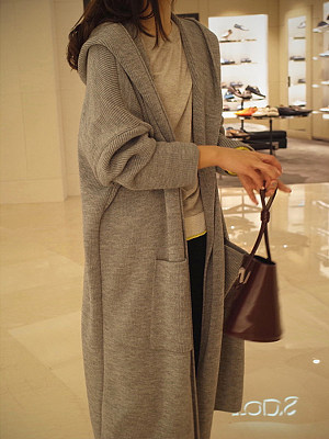 berrylook.comhooded-plain-long-sleeve-coats