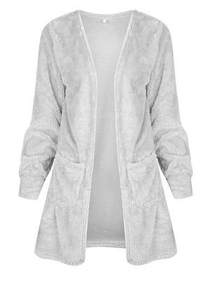 Collarless Plain Coats
