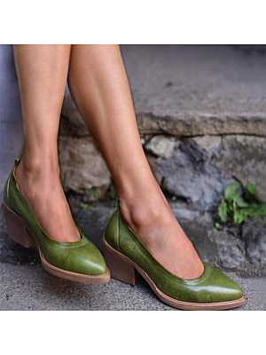 Chunky High Heeled Date Outdoor Pumps фото