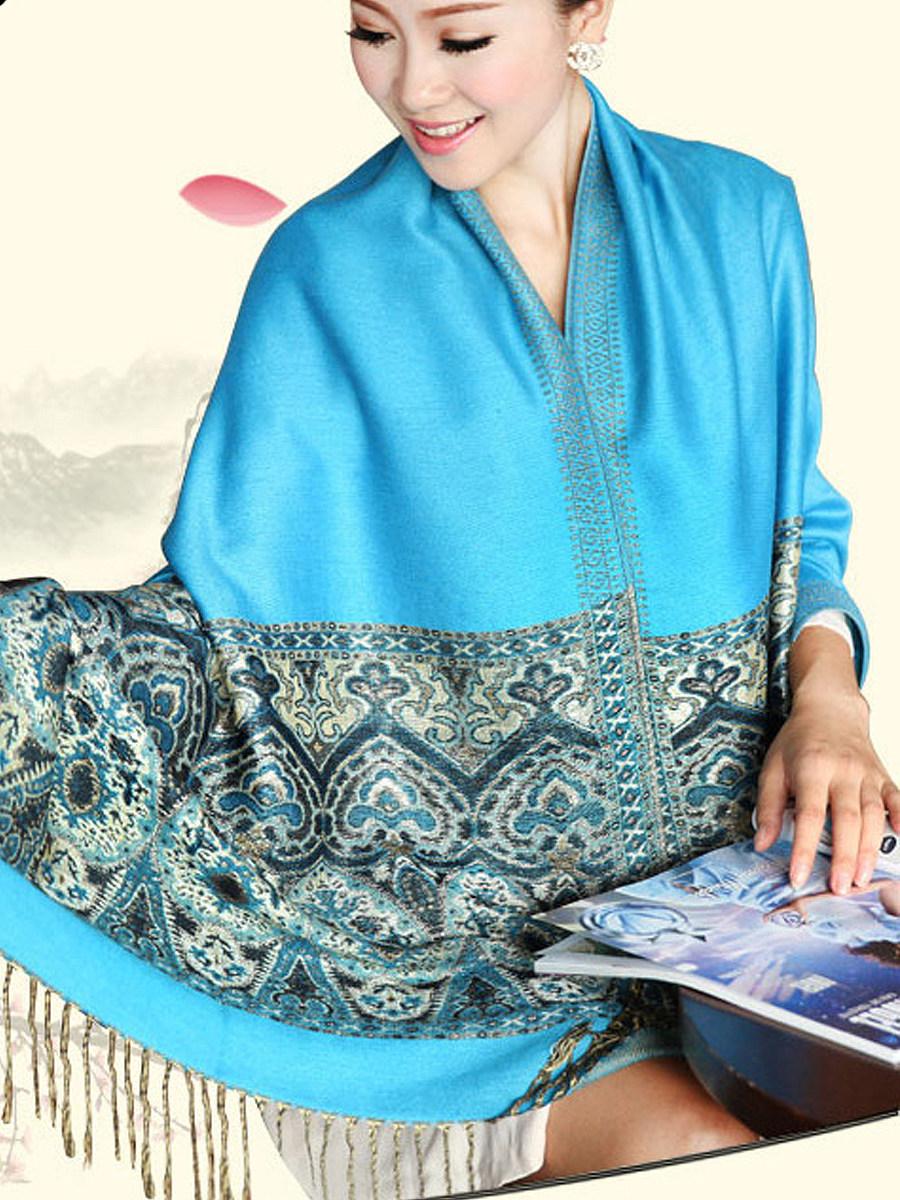 Beautiful Bohemian Soft Cotton Tassel Decoration Scarves