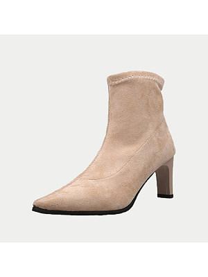 Plain Point Toe Boots, 9438039