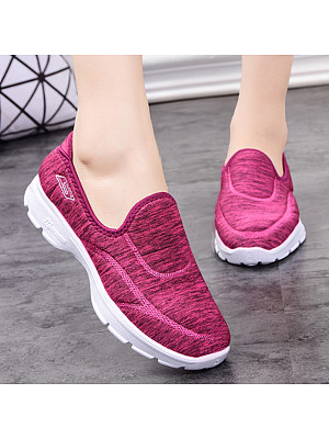 Flat Cotton Round Toe Casual Sneakers фото