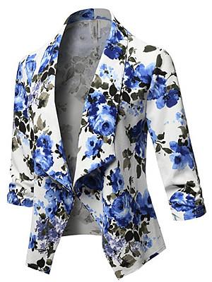 Floral Printed Long Sleeve Blazers