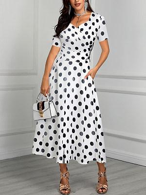 Sweet Heart Polka Dot Maxi Dress