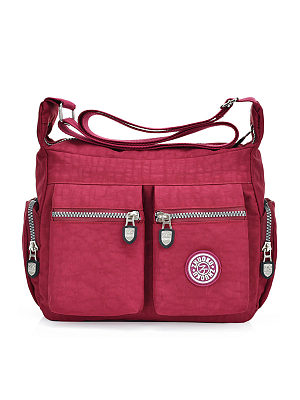 Multi-Pockets Big Capacity Nylon Crossbody Bag