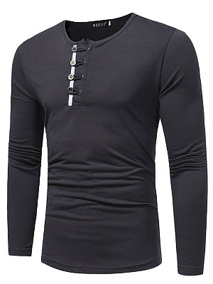 Special Single Breasted Round Neck Men T-Shirt