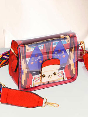 New Style Color Block Crossbody Bags