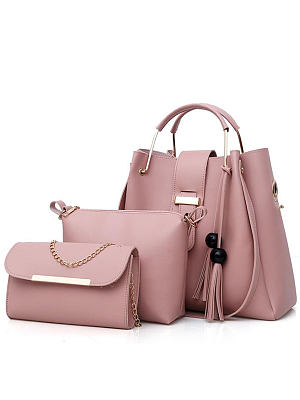 New Style Two Pieces Plain Shoulder Bag фото