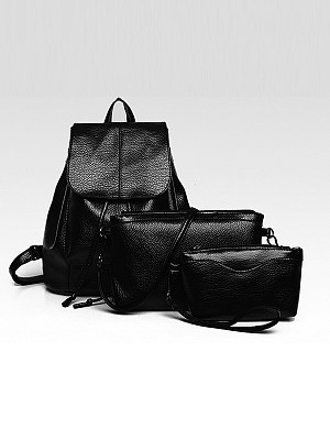Berrylook coupon: Three-Piece Multi-Function Female Bag Backpack