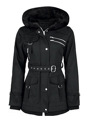 Hooded Plain Coat, 10018990