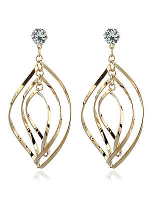 Berrylook coupon: Rhinestone Metal Women Earrings