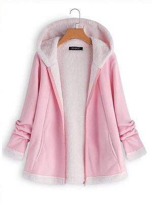 Hooded Plain Coat фото