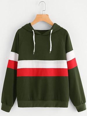 Hooded Color Block Hoodie