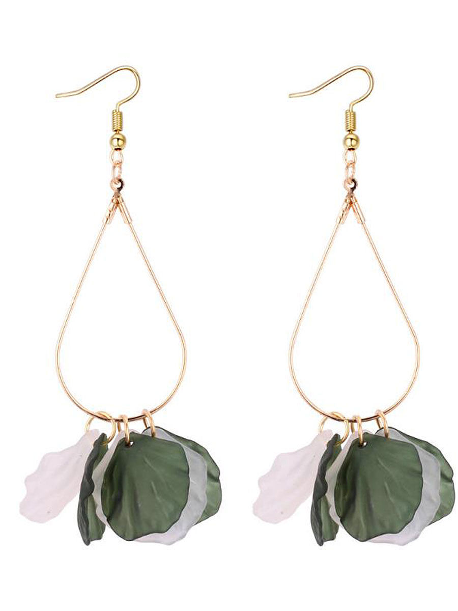 Image of Acrylic Leaf Shape Women Earrings