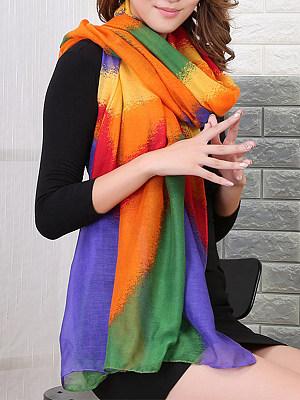 Berrylook coupon: Rainbow Gradient Striped Scarves