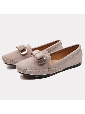 Plain Flat Velvet Round Toe Casual Comfort Flats