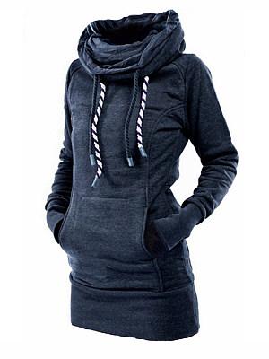 Casual Plain Long Sleeve Sweatshirt фото