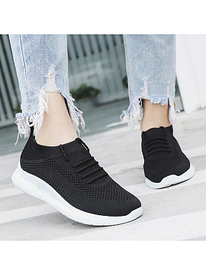 Plain Flat Round Toe Casual Sneakers, 6506228