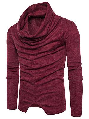 Men Cowl Neck Vented Plain T-Shirt