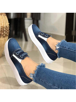 Women's Fashion Casual Canvas Plain Sneakers фото