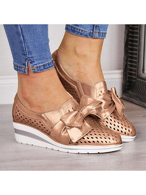Plain Round Toe Casual Travel Sneakers, 8637696