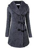 Image of Hooded Patch Pocket Plain Coat