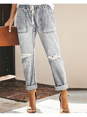 Casual Street Hipsters Straight Pants Women, 8560425