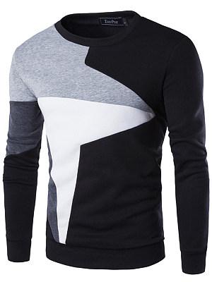 Round Neck  Color Block Men T-Shirt