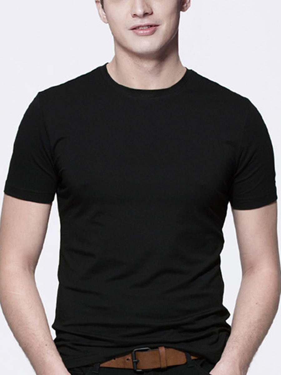 Basic Men Crew Neck  Plain T-Shirt