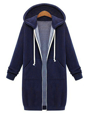 Hooded  Patch Pocket Snap Front  Plain Hoodies