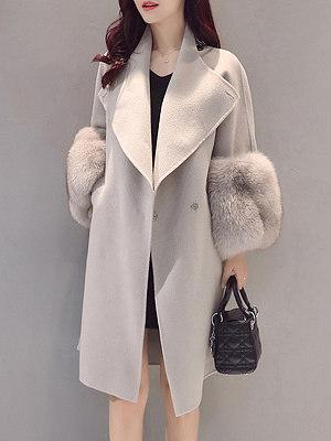 Longline Plain Lapel Pocket Woolen Coat collar_&_neckline:lapel, embellishment:slit pocket, material:woolen, occasion:vacation*date, pattern_type:plain, season:winter, package_included:top*1, cloth length:102,shoulder width:42,sleeve length:57,bust:108,