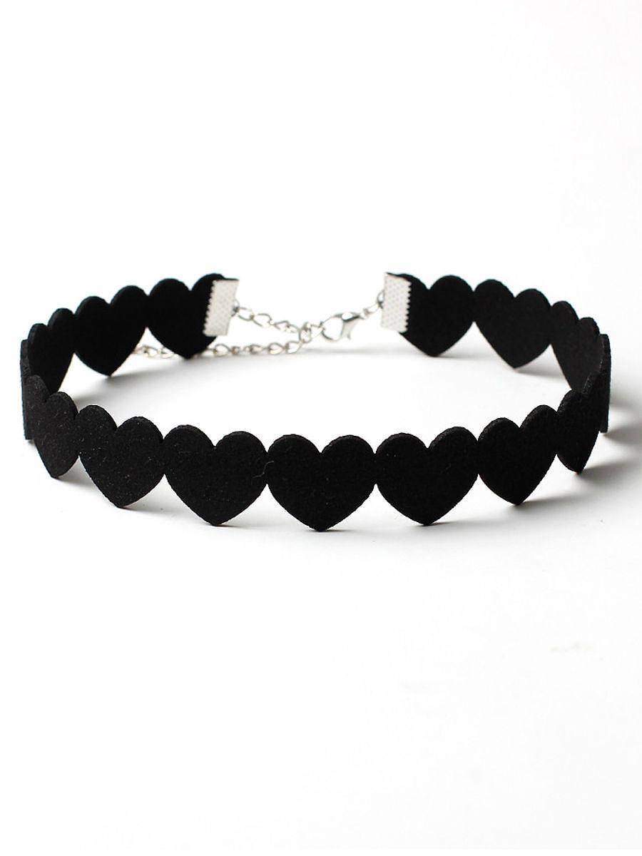 Velvet Heart Choker Necklace