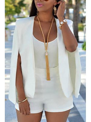 Plain Raglan Sleeve Basic Blazers фото