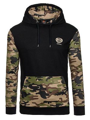 Men Camouflage Kangaroo Pocket Hoodie, 3934711
