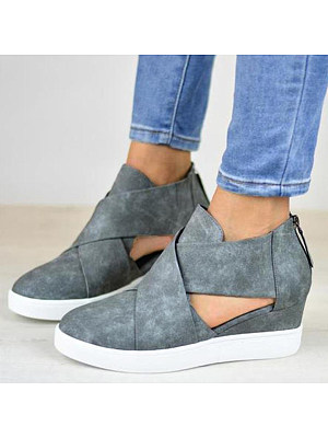 Berrylook Plain Velvet Round Toe Casual Ankle Ankle Boots online sale, shoppers stop,