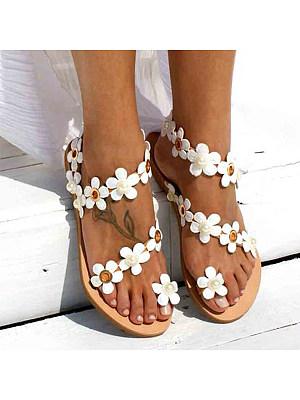 Plain Flat Beach Casual Flat Sandals
