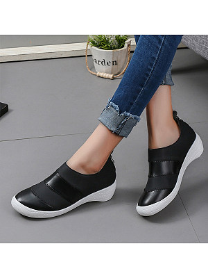 Plain Round Toe Sneakers, 9882196