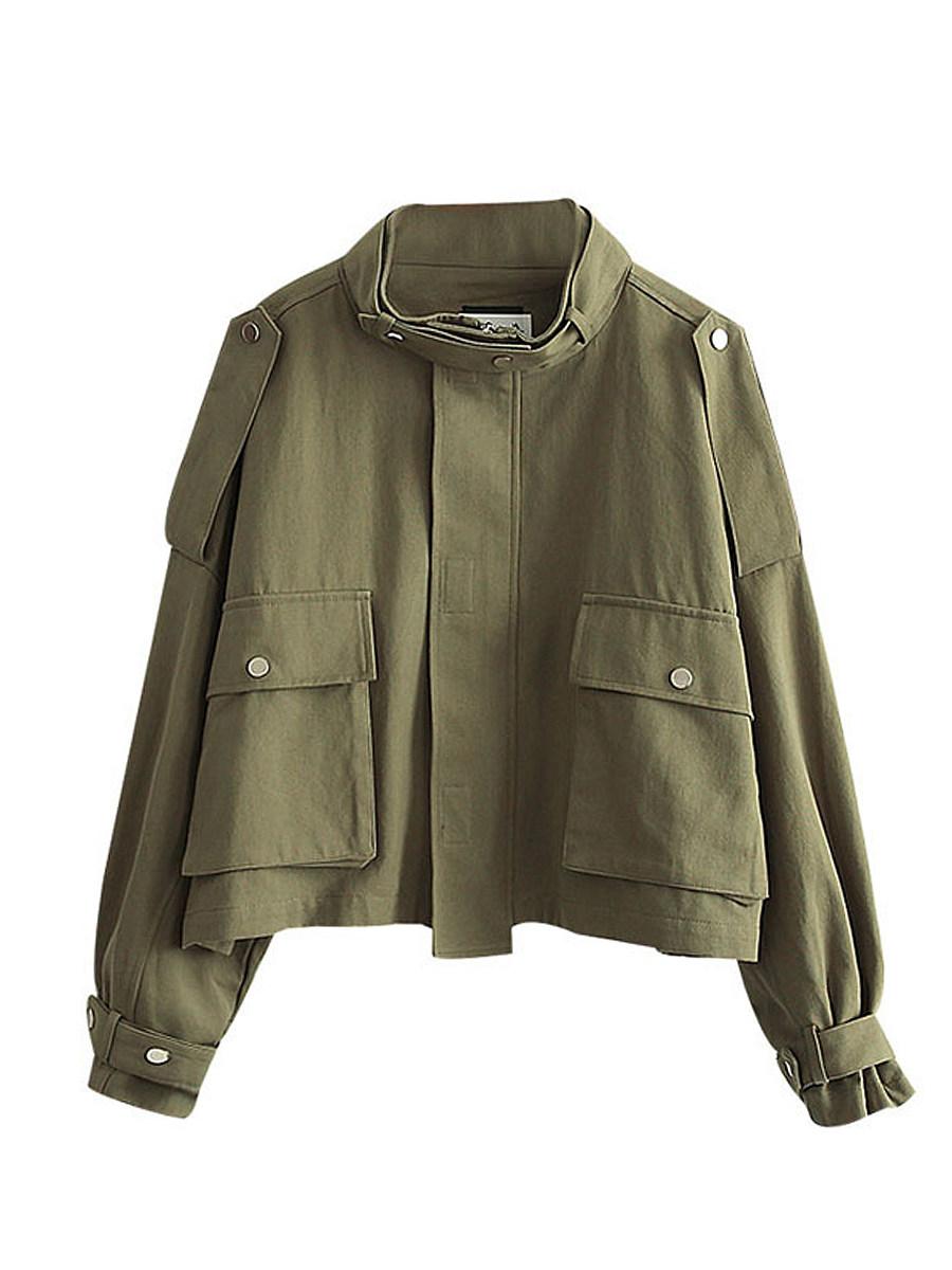 Band Collar  Plain Jacket