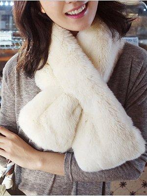 Warm Faux Fur Fashion Scarf