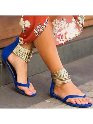 Plain Flat Velvet Ankle Strap Peep Toe Casual Date Flat Sandals, 6421147