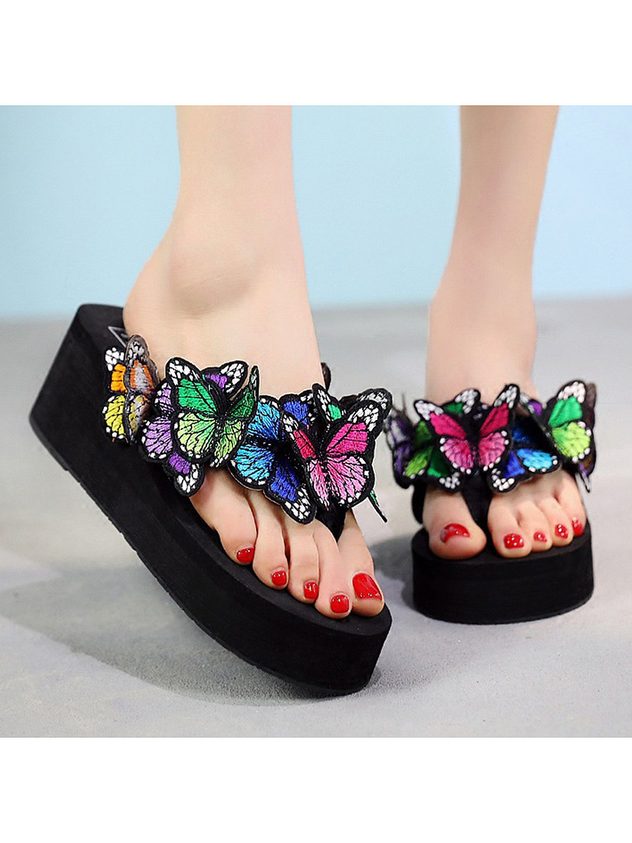 Peep Toe  Casual Comfort Slippers