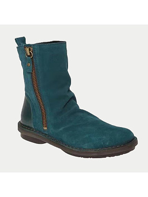 Plain Round Toe Boots, 9430772