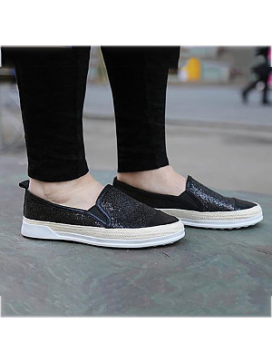 Women's Fashion Casual Platform Solid Color Flat Shoes, 8383490