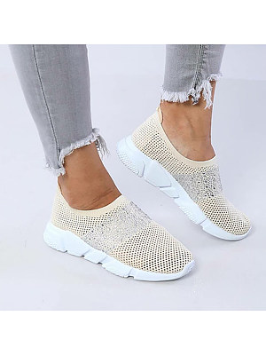 Fashion Flat Bottom Rhinestone Women Casual Shoes, 8349725