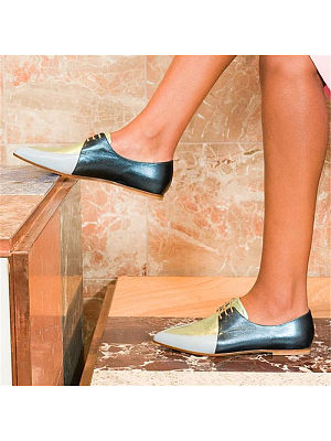 Casual Fashion Lace-Up Pointed Toes Single Shoes, 8499847