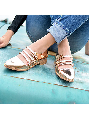 Casual Classic Pure Color Low-Heel Single Shoes, 8366740