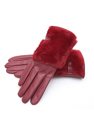 Soft Thick Patchwork Gloves, 6034672