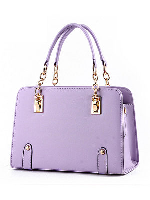Berrylook coupon: Gold Chain Handle Pu Crossbody Bag