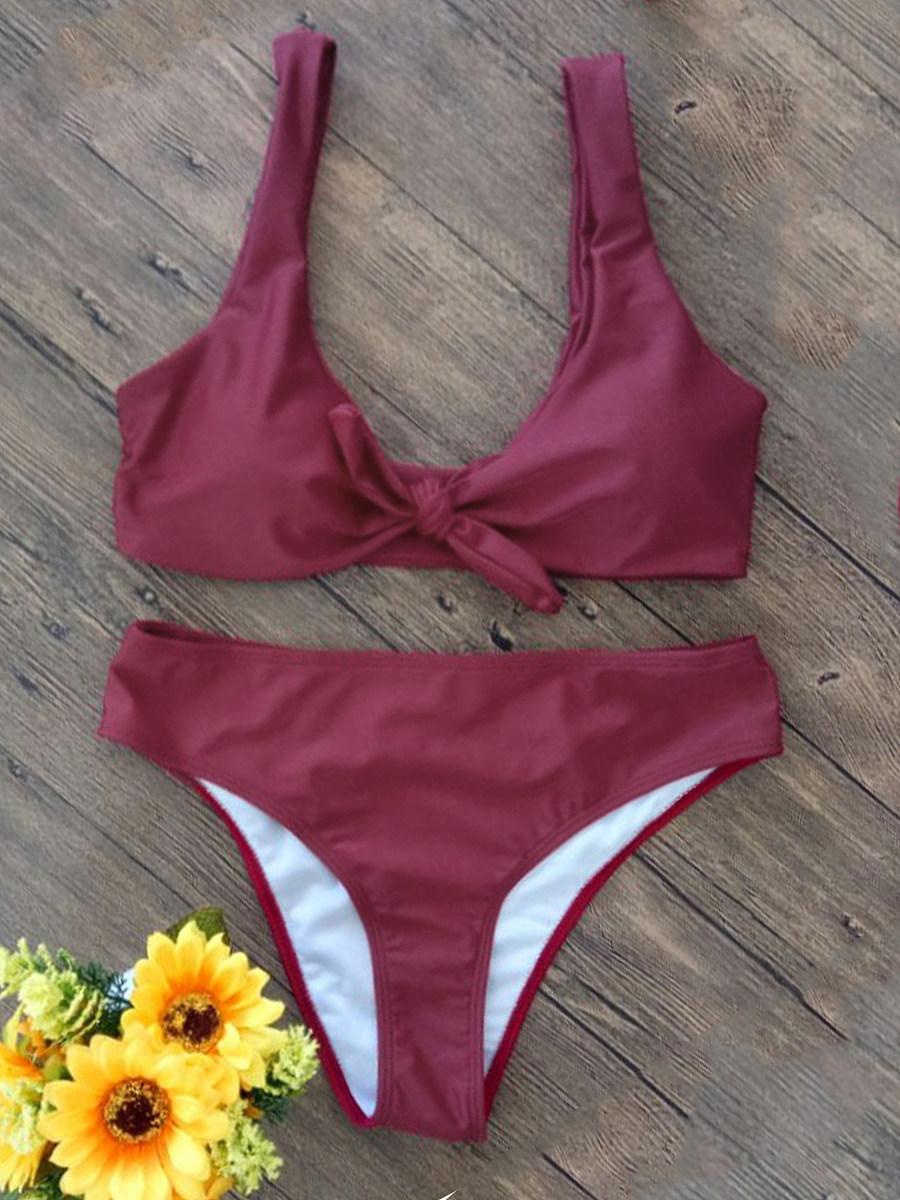 Bowknot  Plain Bikini